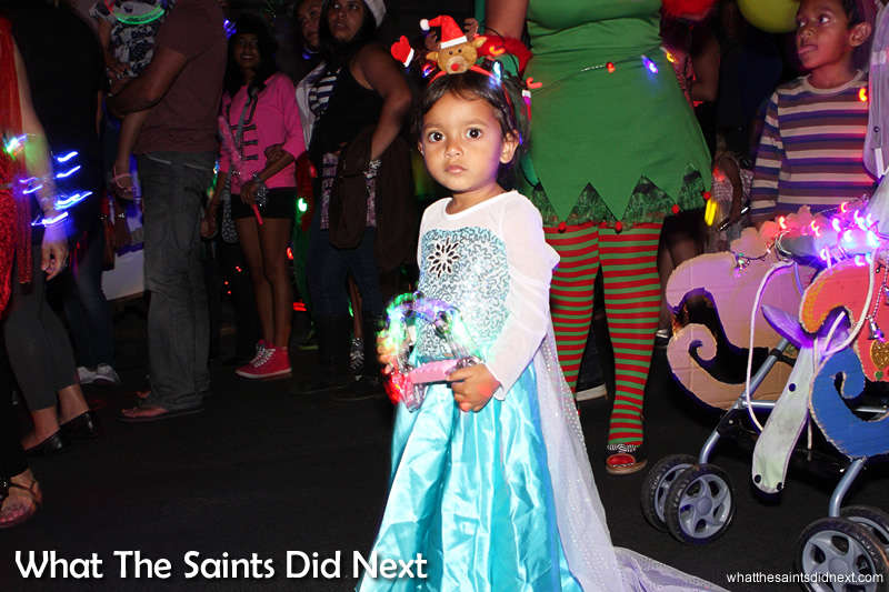 Frozen's Princess Elsa made an appearance on the night