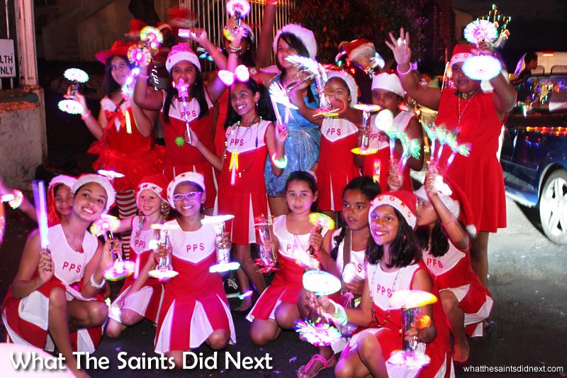 The cheerleaders of Pilling Primary School
