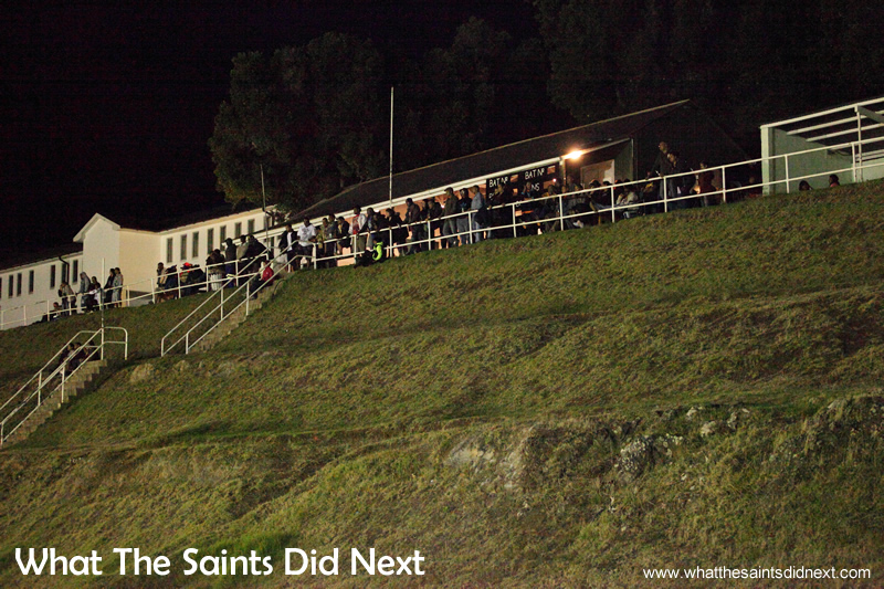 Everyone preferred the higher vantage point to view the game from