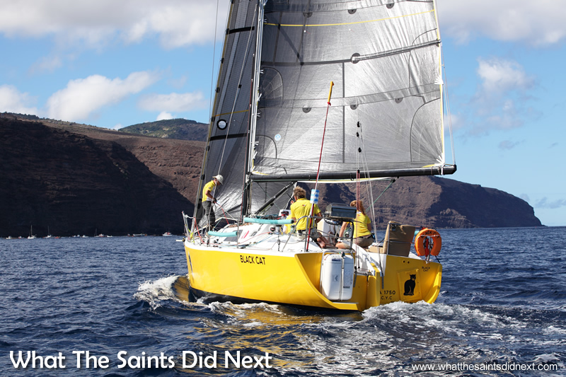 Black Cat on final approach to James Bay, skippered by Dave Immelman.