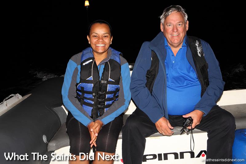 Race officials, Julie George (St Helena Yacht Club) and Bram Weller (False Bay Yacht Club).