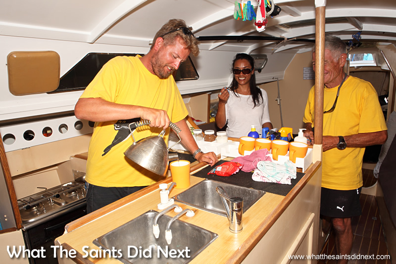 Shaun became the unofficial chef on the voyage.