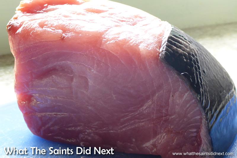 Fresh cut of tuna.