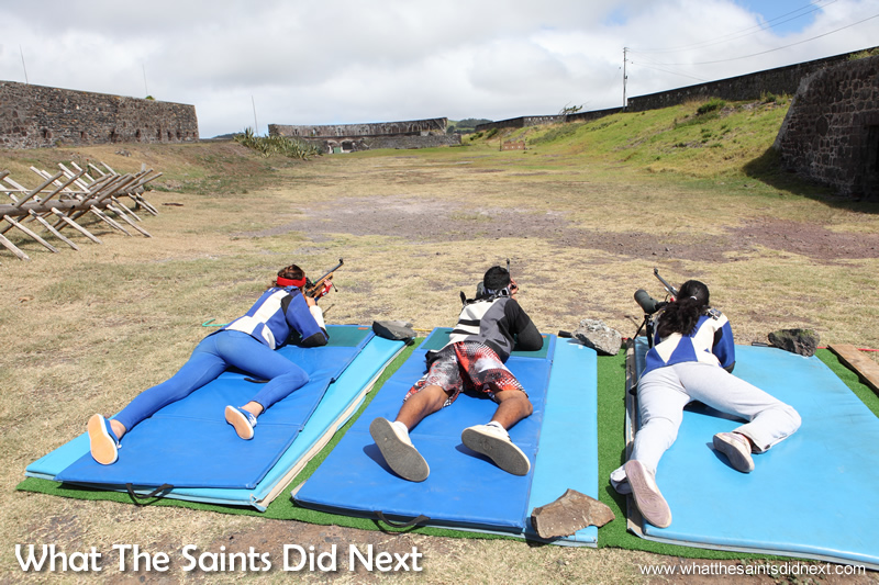 Chelsea, Jordie and Madolyn, training at 100yds in 2014, ahead of the Commonwealth Games in Glasgow.