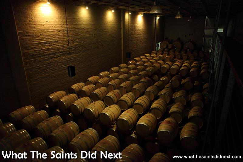 Hundreds of barrels of Groot Constantia wine.