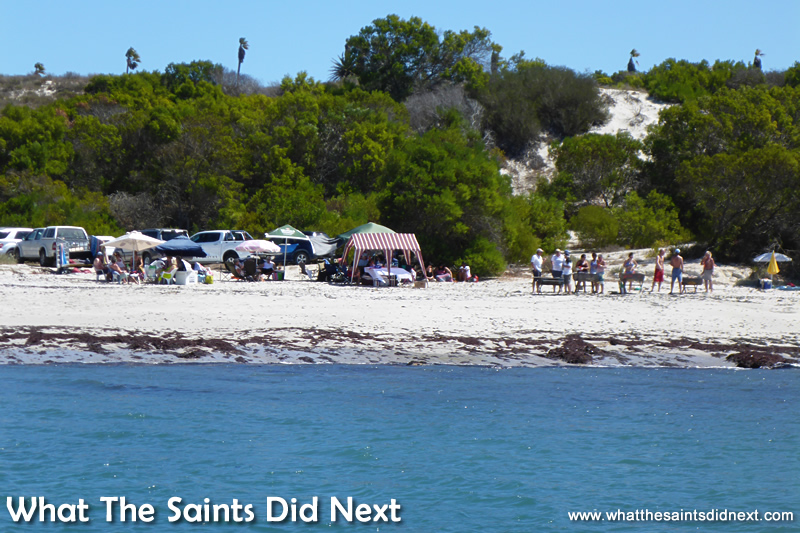 The Port Owen Yacht Club's social on the beach.