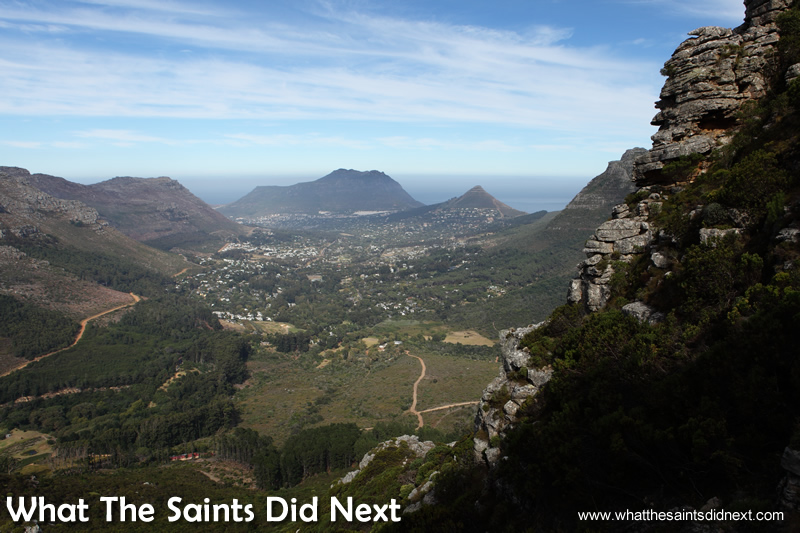 The view toward Hout Bay.