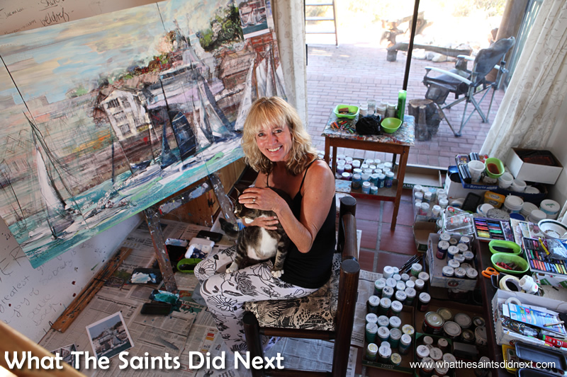 Diane in her special creative space.