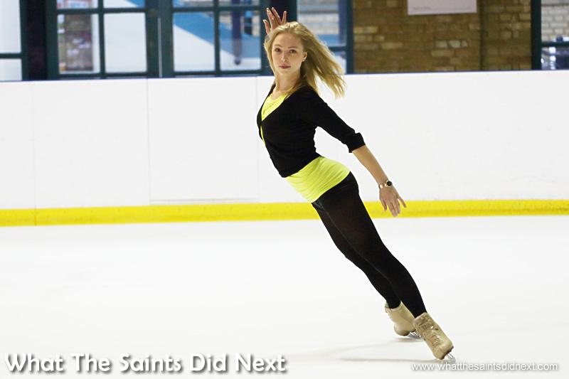 Maria Sergejeva on the ice.
