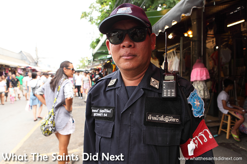 The police presence helps give the market a safe and friendly feel.