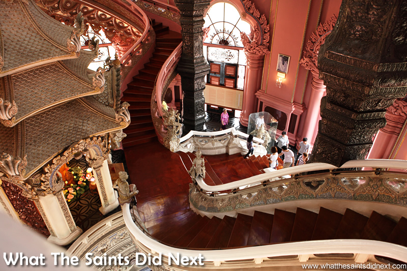 The grand staircase entrance-way.