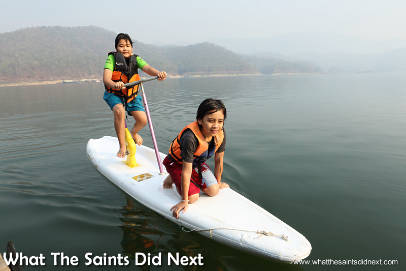 The range of water toys, such as the pedal surf board, is brilliant.