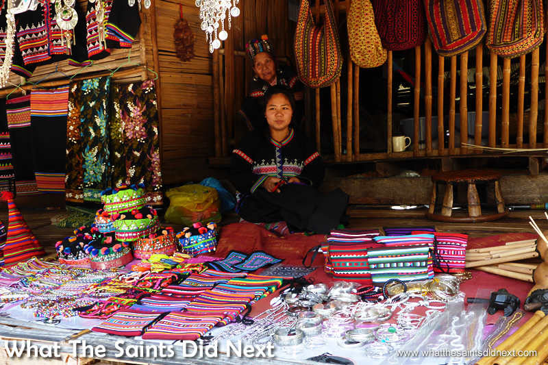 A full range of souvenirs for tourists, although not everything is local craftwork.