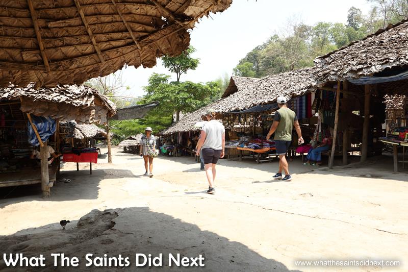 The 'street' of the Baan Tong Luang village.