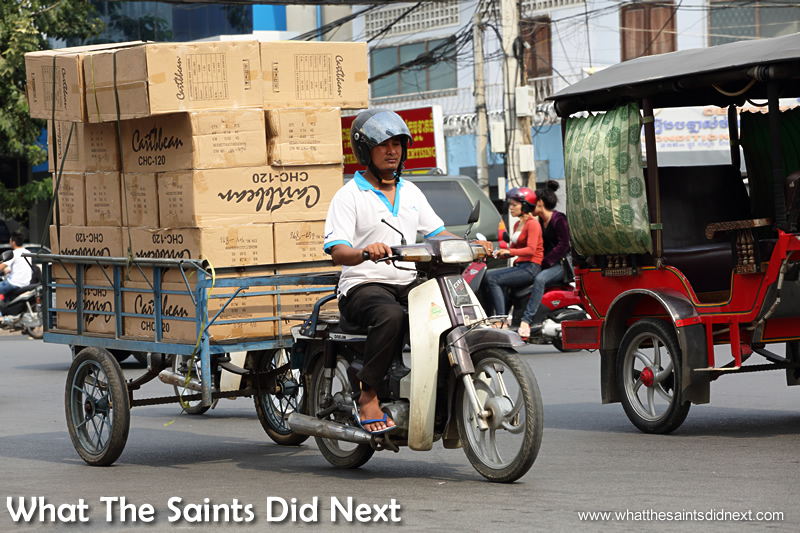 One of Phnom Penh's dedicated cargo tuk tuks.
