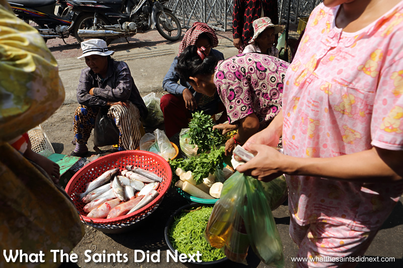 The street market vendors will set up almost anywhere and sell almost anything!