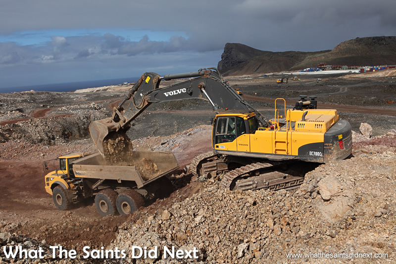An airport is being constructed on Prosperous Bay Plain. It should open in February 2016.