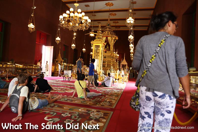 Inside the Silver Pagoda.