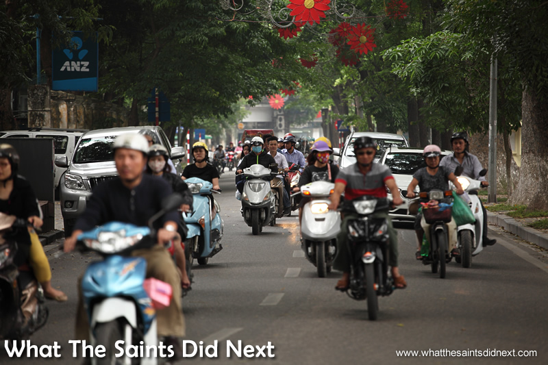 Hanoi's constant flow of traffic is an intimidating sight for newbies to the city.
