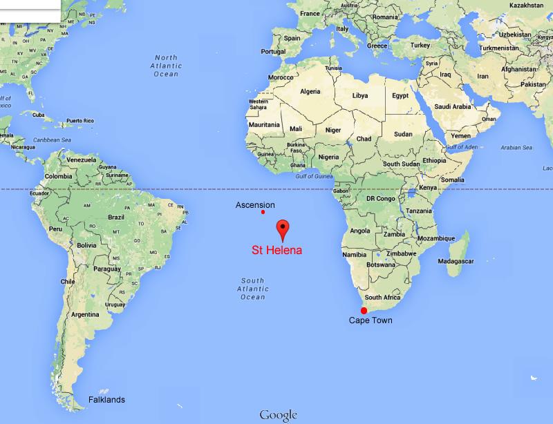 St helena on world map timekeeperwatches gumiabroncs Choice Image
