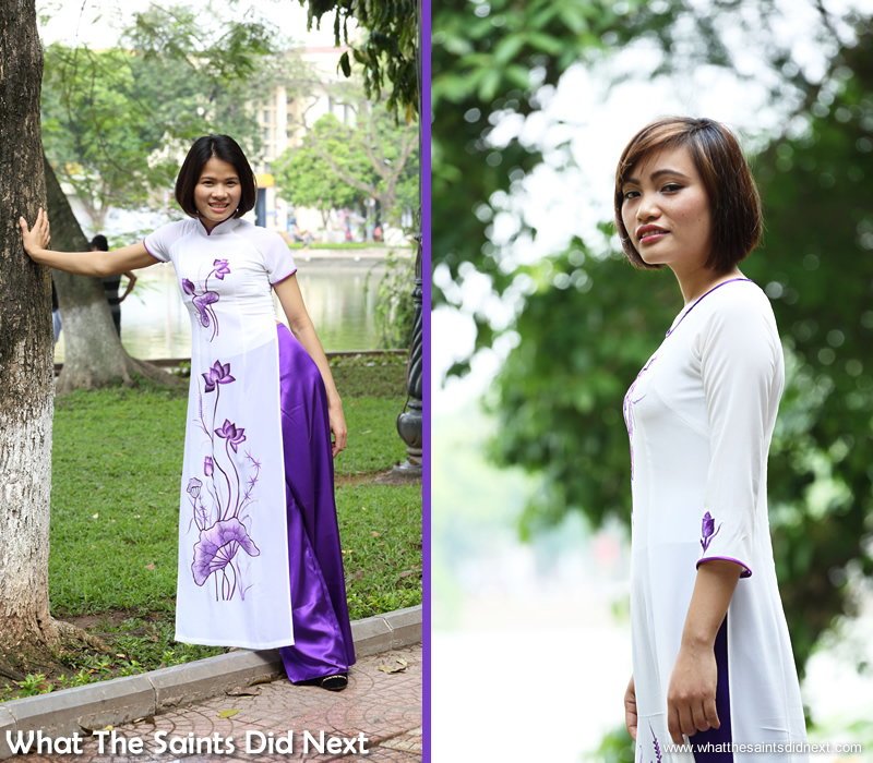 Jane (left) and Trang (also known as Emily), modelling for the first time.