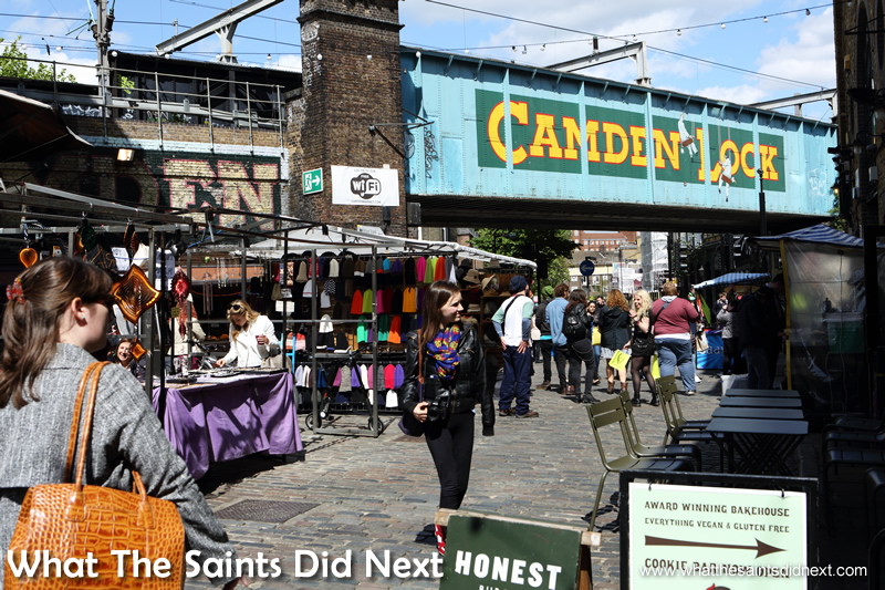 Camden Lock bridge.