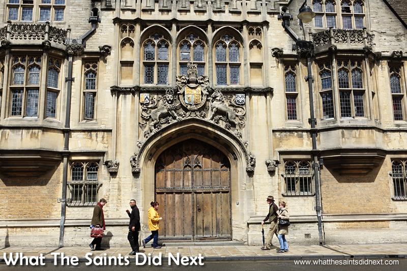 There is spectacular architecture everywhere in Oxford.