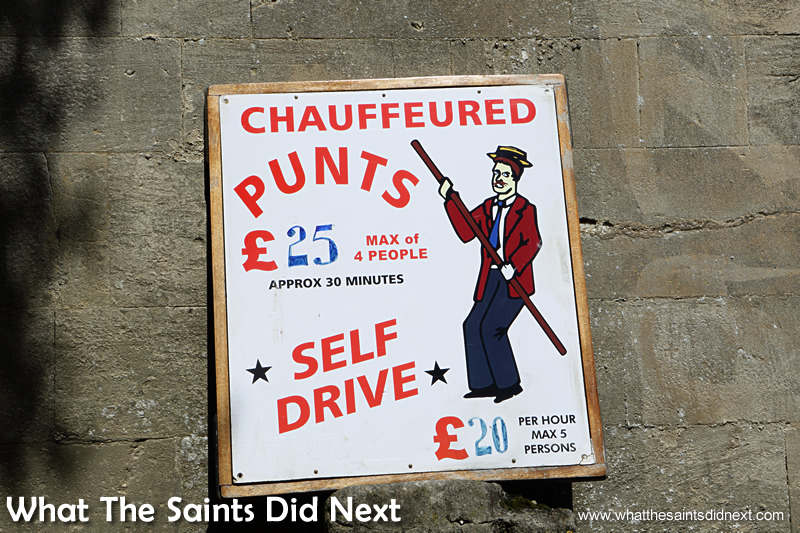 Get your group together for the punts!