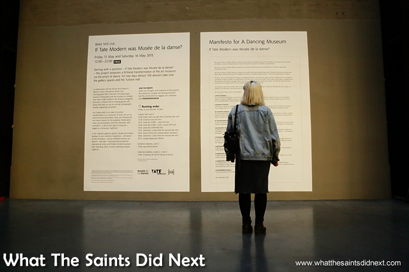 A visitor takes a moment in London's Tate Modern art gallery.