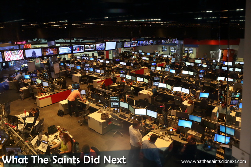 The CNN Newsroom, where it all happens.