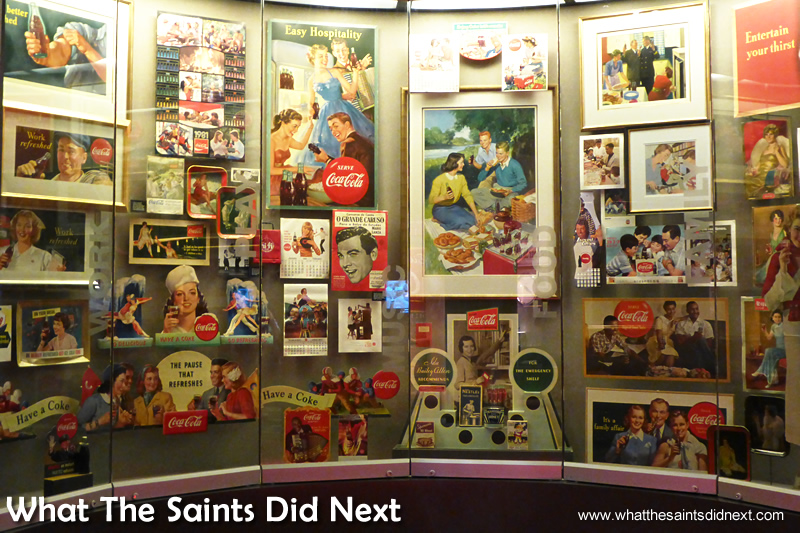 Advertising paintings for Coca-Cola from years gone by.