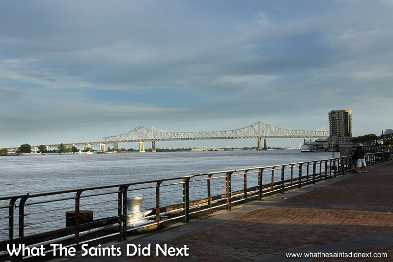 It's almost easy to forget the mighty Mississippi River borders one side of the French Quarter, an attraction in itself with steam/paddle boat tours daily.