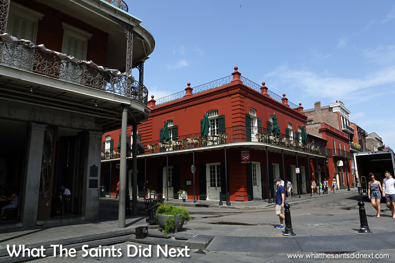 The French Quarter is a 13 x 10 block area bound roughly by Canal Street, Esplanade Avenue., the Mississippi River and Rampart Street.