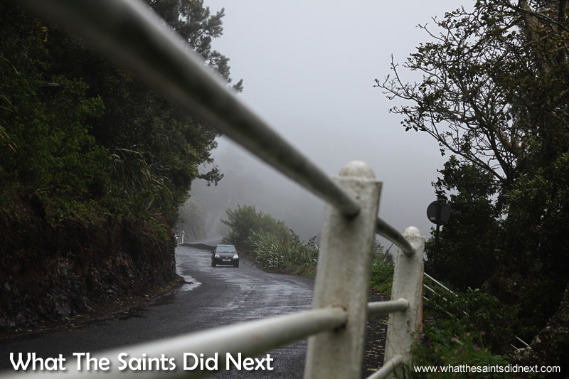St Helena winter weather in full effect over Tomb Road.