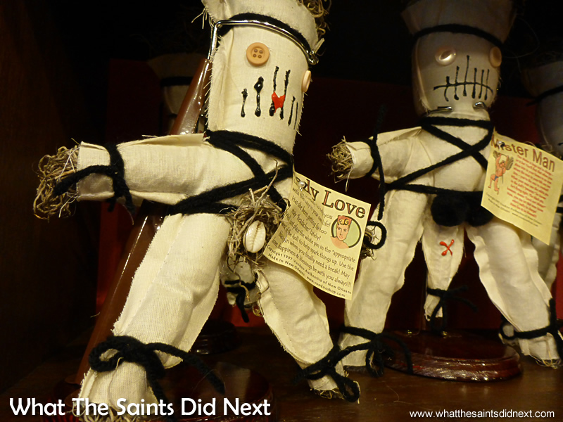 Voodoo dolls of all types can be bought in The French Quarter.