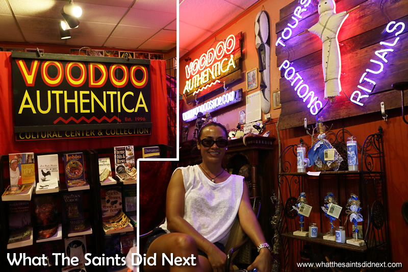 Inside 'Voodoo Authentica' where the tour ended.