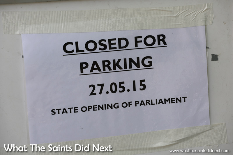 Notice on the Mall.