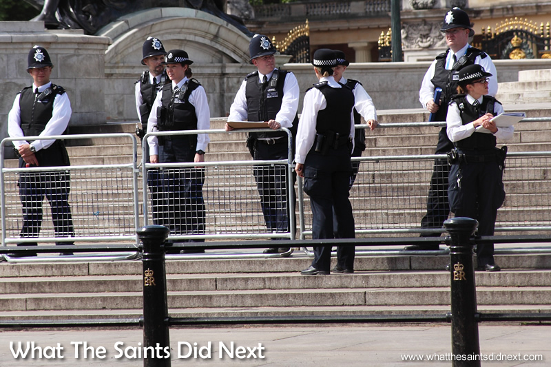 Police on duty for the State Opening of Parliament.