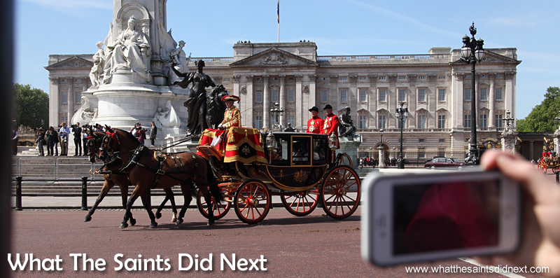 The grand procession is underway from Buckingham Palace, captured by hundreds of camera phones.