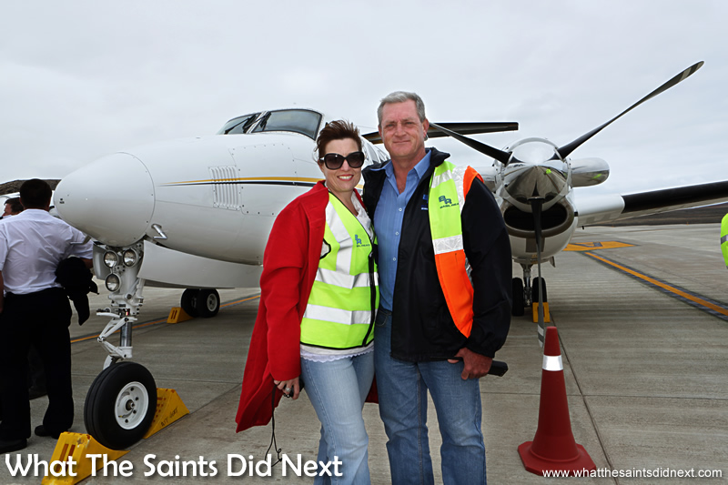 South African contractors, Basil Read, have built the airport on St Helena, led by their Island Director, Deon De Jager, who was there with his wife, Chrezelda, to welcome the flight.