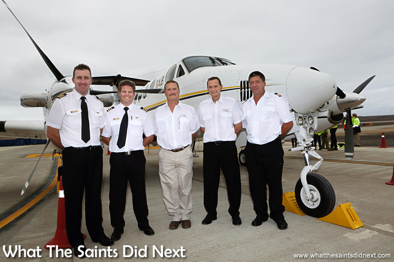 The aircraft crew comprised Captain Grant Brighton, Co-pilot and First Officer Dillan Van Niekerk, Chief Flight Inspector Nick Whitehouse, FCSL Chief Pilot, Stuart Rawlinson, and Chief Aircraft Engineer, Jeffrey McKenzie.