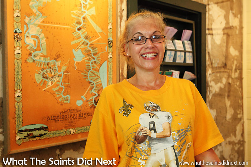 Kerry-Lyn Breazeale of the Pointe Coupée museum, in Oscar, Louisiana, USA.