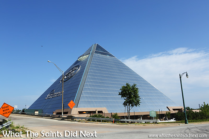 The Memphis Pyramid, now home for the outdoor fishing store, Bass Pro.