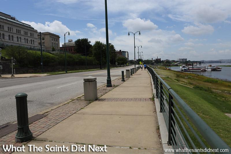 The quiet riverfront in Memphis.