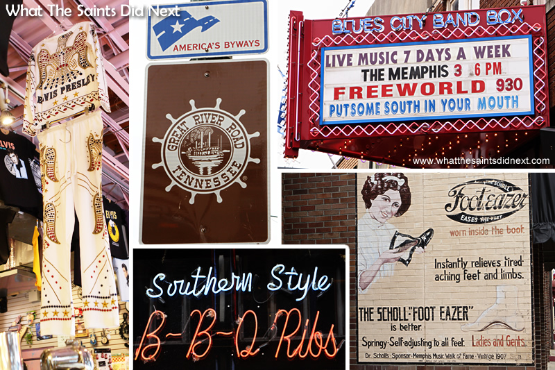 As well as the Elvis memorabillia you could spend a lot of time just reading all the signage along Beale Street.