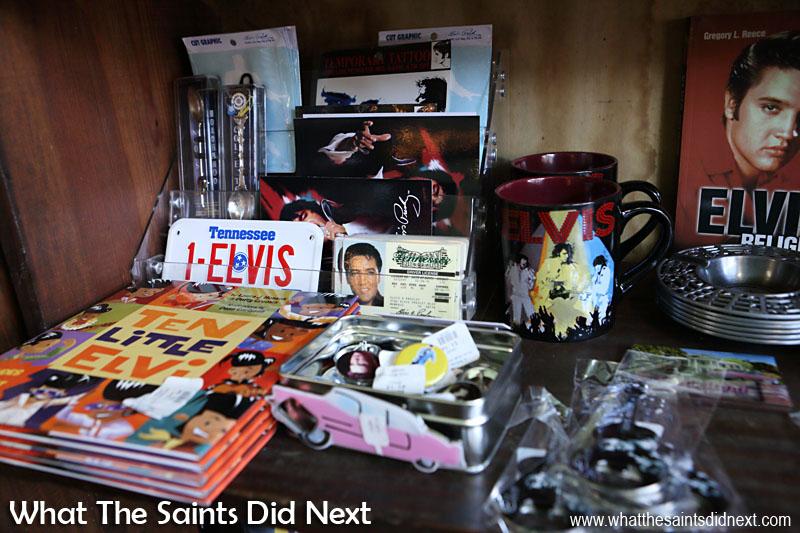 Elvis Presley souvenirs.