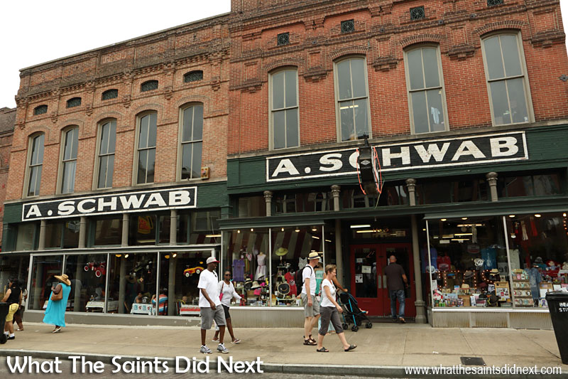 The A. Schwab museum on Beale Street, a great place to visit in Memphis. Free entry.