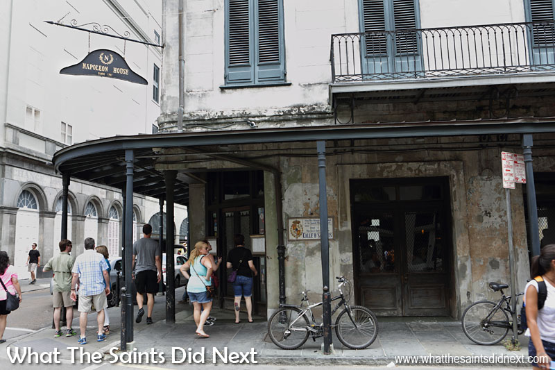 Napoleon House on St Louis and Chartres, New Orleans, USA: This building was renovated especially in 1820 to accommodate Napoleon after a planned escape commissioned by the former French territory. The emperor died before the plan was put into action.