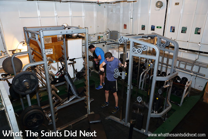 HMS Lancaster carries a physical training instructor who organises sport both on board and ashore. The recent removal of a passive sonar has resulted in space for a sizeable gymnasium which is well equipped and well used.