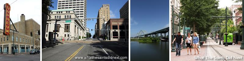 Street scenes in Memphis.